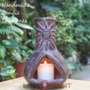 Terracotta Candle chimenea - CC001