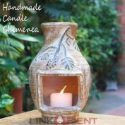 Terracotta Candle chimenea - CC002