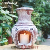 Terracotta Candle Chimenea - CC003